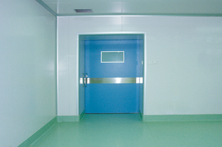 Heary X-ray hospital door